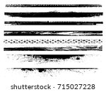 grunge paint stripe . vector... | Shutterstock .eps vector #715027228
