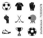 referee icons set. simple set... | Shutterstock .eps vector #715035478