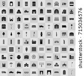 city elements icons | Shutterstock .eps vector #715036576