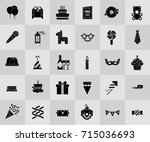 birthday party icons | Shutterstock .eps vector #715036693