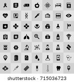 medical icons | Shutterstock .eps vector #715036723