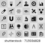 scientific study icons | Shutterstock .eps vector #715036828