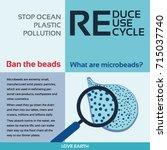 stop ocean plastic pollution...   Shutterstock .eps vector #715037740