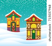 christmas background with... | Shutterstock .eps vector #715037968