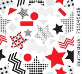star seamless pattern with... | Shutterstock .eps vector #715045618