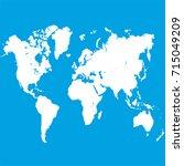world map. | Shutterstock .eps vector #715049209
