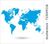 world map. | Shutterstock .eps vector #715049218
