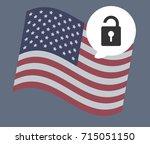 usa flag vector illustration   Shutterstock .eps vector #715051150