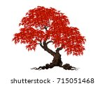 tree with a realistic | Shutterstock .eps vector #715051468