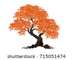 tree with a realistic | Shutterstock .eps vector #715051474