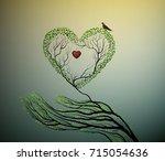 Heart Of Nature  Treelike Hand...