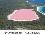 lake hillier  western australia ... | Shutterstock . vector #715055308