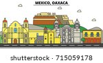 mexico  oaxaca. city skyline ...