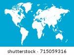 world map. | Shutterstock .eps vector #715059316