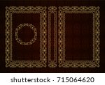 vector classical book cover.... | Shutterstock .eps vector #715064620