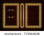 vector classical book cover.... | Shutterstock .eps vector #715064638