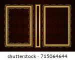 vector classical book cover.... | Shutterstock .eps vector #715064644