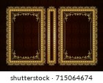 vector classical book cover.... | Shutterstock .eps vector #715064674