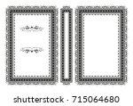 vector classical book cover.... | Shutterstock .eps vector #715064680
