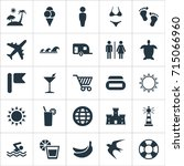 vector illustration set of... | Shutterstock .eps vector #715066960