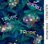 seamless background tropical... | Shutterstock .eps vector #715067374