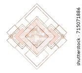 luxury marble rose gold tile... | Shutterstock .eps vector #715071886