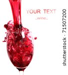 red wine pouring | Shutterstock . vector #71507200