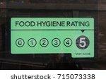 food hygiene rating 5   very... | Shutterstock . vector #715073338