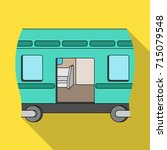 wagon  single icon in flat... | Shutterstock .eps vector #715079548