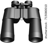 3d image of binoculars | Shutterstock . vector #715080010