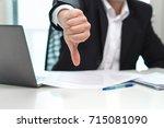 business man showing thumbs... | Shutterstock . vector #715081090