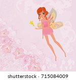 beautiful fairy | Shutterstock . vector #715084009
