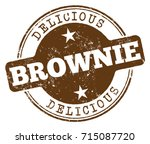 brownie stamp | Shutterstock .eps vector #715087720