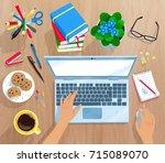 top view vector illustration of ...   Shutterstock .eps vector #715089070