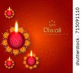 vector illustration of diwali... | Shutterstock .eps vector #715091110