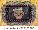 frame   dia de muertos | Shutterstock . vector #715109200
