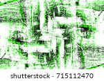 green texture old distressed... | Shutterstock . vector #715112470