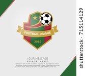 soccer football badge covers... | Shutterstock .eps vector #715114129