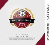 soccer football badge covers... | Shutterstock .eps vector #715114210