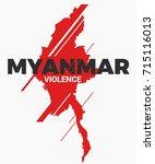 myanmar violence social poster...   Shutterstock .eps vector #715116013