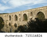 the maglova aqueduct built by... | Shutterstock . vector #715116826