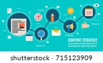 content strategy  content... | Shutterstock .eps vector #715123909