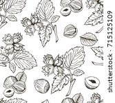 seamless vector pattern with... | Shutterstock .eps vector #715125109