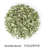 heap of dry thyme isolated on... | Shutterstock . vector #715129570