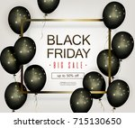 black friday sale banner with... | Shutterstock .eps vector #715130650