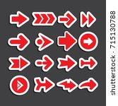 arrows set | Shutterstock vector #715130788