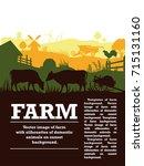 vector illustration of a farm... | Shutterstock .eps vector #715131160