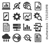 big data analysis icons set.... | Shutterstock .eps vector #715135498