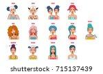 set of all zodiac signs ...   Shutterstock .eps vector #715137439