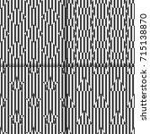 set of seamless linear black... | Shutterstock .eps vector #715138870